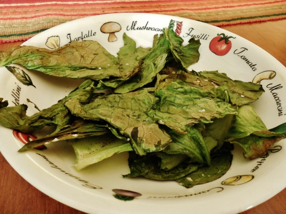 5 minute lettuce chips